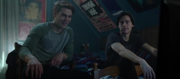 Archie (KJ Apa) and Jughead (Cole Sprouse) in 'Riverdale'/Photo via screencap, 'Riverdale'/The CW