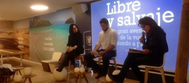 """Ignacio Dean en la presentación de """"Libre y salvaje"""" en PANGEA (Madrid) - Fotografía de Andrés Iwasaki 06.04.17"""