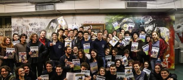 La redazione del giornale studentesco 'Scomodo'.