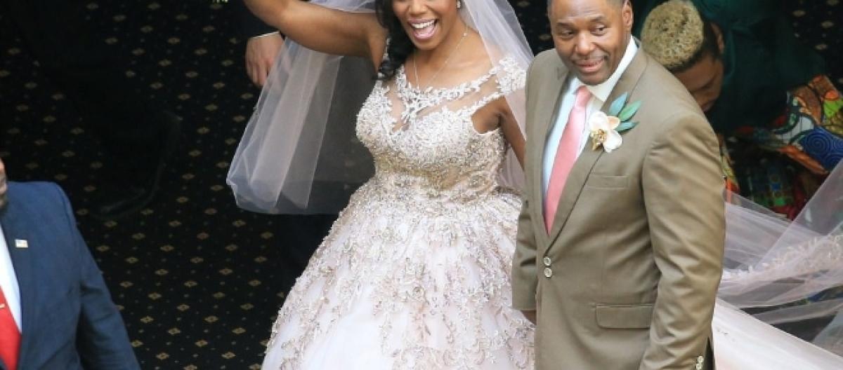 Omarosa Wedding Dress.Omarosa Manigault Marries John Allen Newman