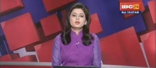 Âncora de telejornal indiano noticiou a morte de seu próprio marido ao vivo.