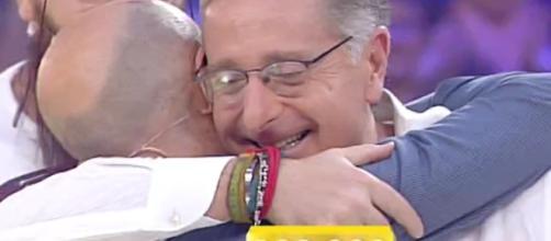 Giacomo Piras al momento della vincita.