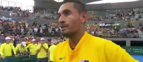 Kyrgios after the match, This is Sports Time Youtube channel https://www.youtube.com/watch?v=kFCXHzx1ay4