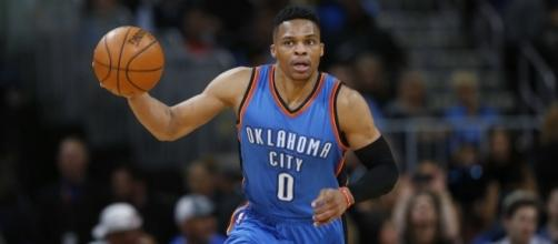 Russell Westbrook takes another shot at history on Sunday against Denver. [Image via Blasting News image library/inquisitr.com]
