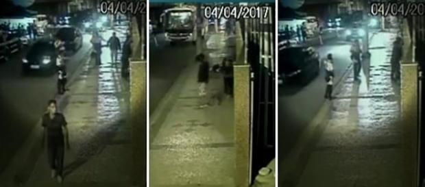 Câmeras registraram momento em que criminosos executam policial no RJ.