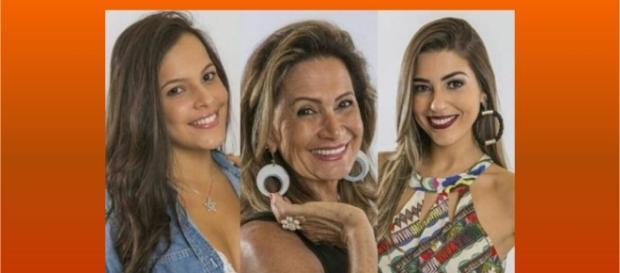 Emilly, Ieda e Vivian, as três finalistas da 17.ª edição do Big Brother Brasil