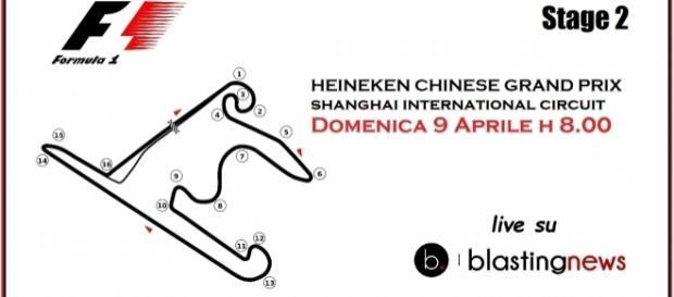 Live dalle 8 italiane dal circuito di Shanghai il Gp di Cina.