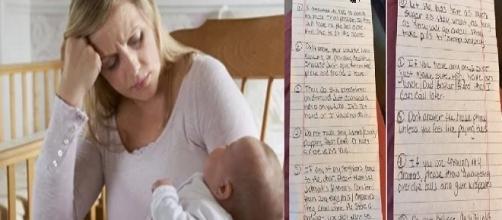 Dicas malucas foram repassadas por mãe para que babá cuidasse de seus filhos