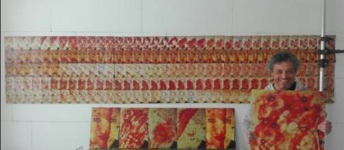 L'artista Andrea Salpetre espone la sua opera 180