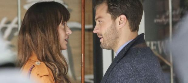 'Fifty Shades Darker' lead stars are reportedly having a secret affair after being spotted in the Budapest. (Photo via digitalspy.com)