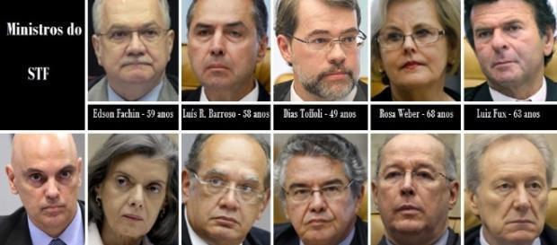 Ministros que fazem parte do Supremo Tribunal Federal