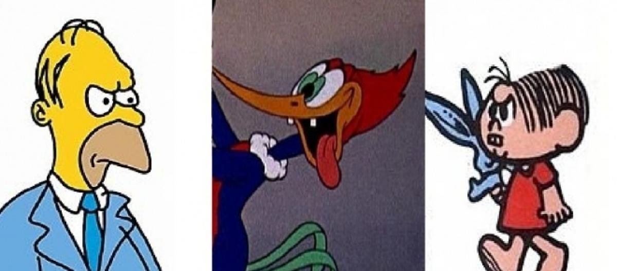 tosco veja como era a primeira versão de desenhos animados famosos