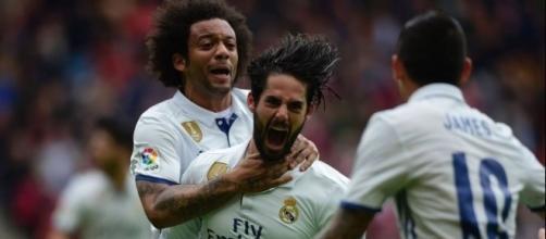 Isco marcando un gol por Real Madrid. Gentileza El País.