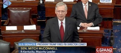 "Sen. Mitch McConnell Calls Comey Reaction ""Partisan"" / Photo by philly.com via Blasting News library"