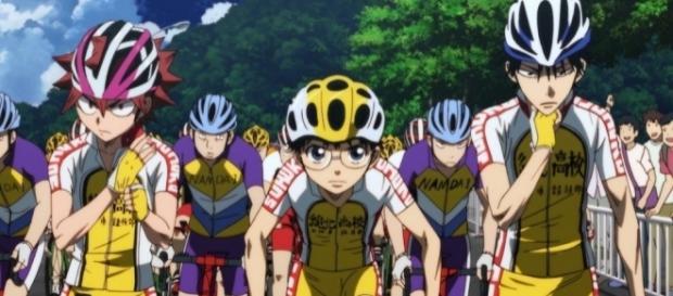 Aoyagi and Kaburagi will have to beat the Road Monster, Doubashi to take the sprinter's checkpoint. - ramenparados.com