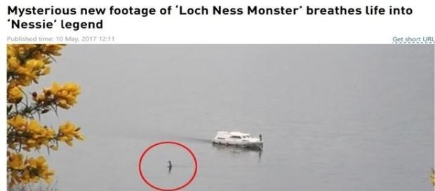 Suposto monstro do lago Ness viraliza na imprensa (Rob Jones)
