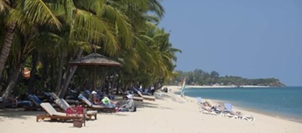 Ilha de Koh Samui, onde casal foi flagrado em momentos íntimos