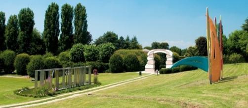 Alcune delle sculture che arricchiscono il Rossini Art Site di Briosco