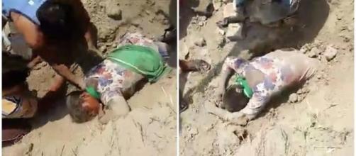 Jovem foi enterrada viva por três homens