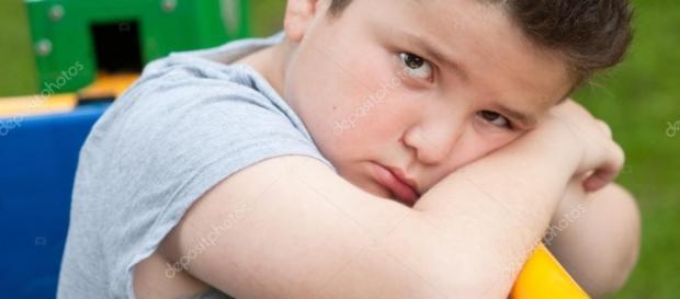 Boy, sad, fat, overweight, exercise, tired, look, portrait ... - depositphotos.com
