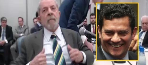 Lula e Sérgio Moro - Imagem/Google