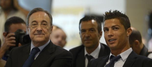 Pérez, presidente del Madrid, junto a Cristiano Ronaldo en el acto ... - aldia.cr