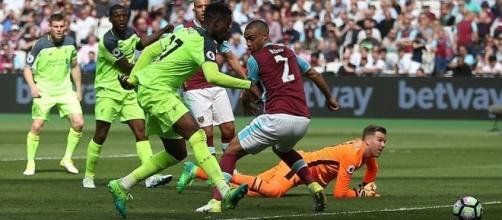Divock Origi scores the fourth goal for Liverpool - The Daily Mail sourced via Blasting News