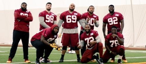 Redskins 2017 defensive line via redskins.com