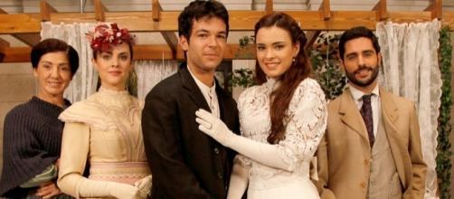 Una Vita, Leonor e Pablo nel giorno del loro matrimonio
