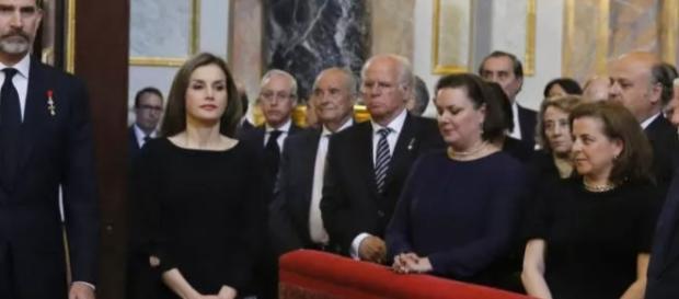 La reina Letizia junto a Felipe