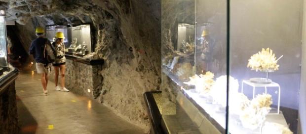Los tuneles del El Edén ahora muestran en vitrinas la diversidad mineral.