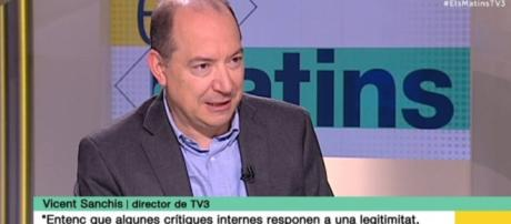 Vicent Sanchís, actual Director de TV3, que quiere revitalizar la cadena con nuevos programas, alguno ya en antena.