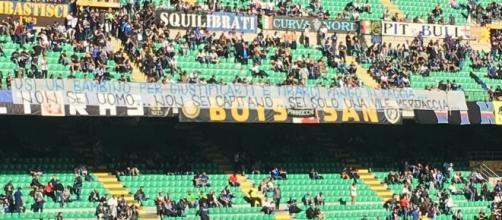 La Curva Nord dell'Inter non perdona la squadra