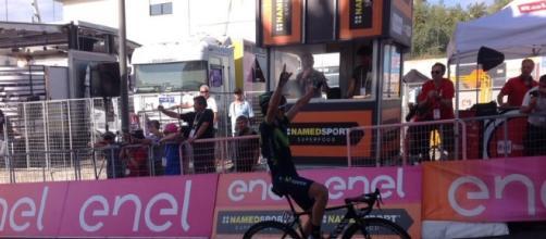 Gorka Izagirre vince l'8^ tappa del Giro d'Italia.