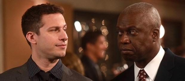 Andy Samberg and Andre Braugher show off their chemistry as Detective Jake Peralta and Captain Ray Holt in the award-winning comedy. (SpoilerTV/FOX)