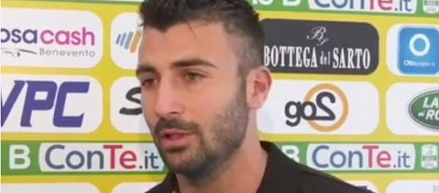 Fabio Ceravolo, ha segnato il gol della vittoria in Benevento-Frosinone