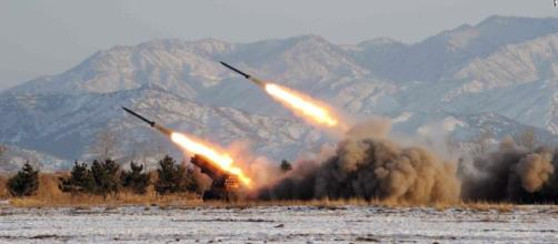 Missiles fired / photo sourced via Blasting News Library