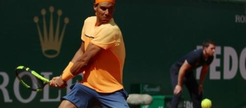 Rafa Nadal plays backhand during the 2016 Monte Carlo Masters. Photo by Marianne Bevis -- CC BY-ND 2.0