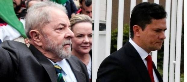 Ex-presidente Luiz Inácio Lula da Silva se dirigindo para prestar depoimento a Sérgio Moro.