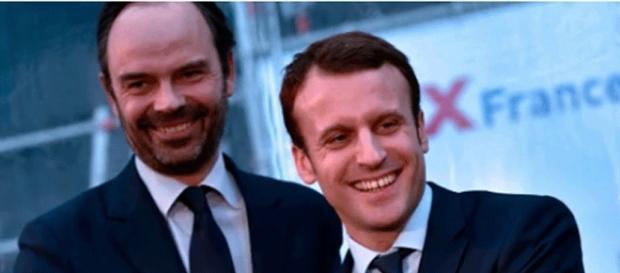 Le nouveau Premier ministre aux côtés d'Emmanuel Macron