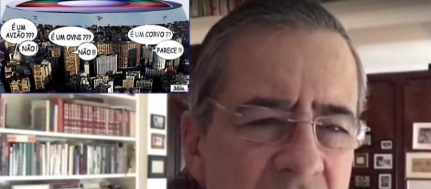 Segundo o jornalista, a emissora Rede Globo está 'falida' e nem consegue mais viver de publicidade.