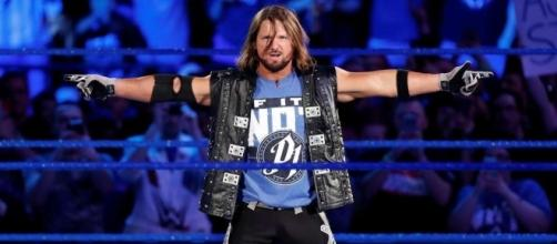 AJ Styles will be in action on Tuesday night's 'SmackDown' episode. [Image via Blasting News image library/givemesport.com]