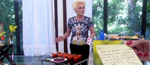 "Ana Maria Braga recebe brigadeiros e doces de abóbora de Taís Araújo e devolve a ""desfeita"" (Foto: Captura de vídeo/Rede Globo)"