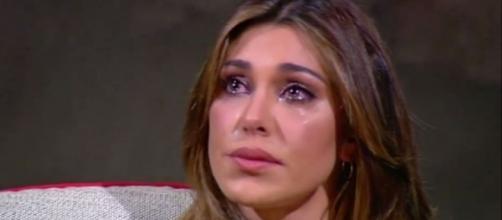 Belen Rodriguez commossa dalle parole di De Martino