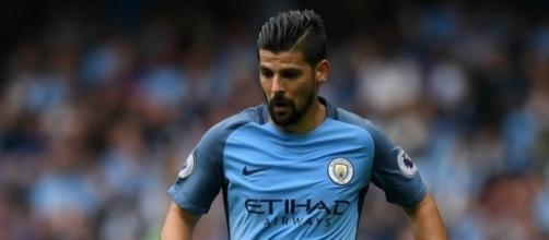 Nolito, en un partido disputado con el Manchester City