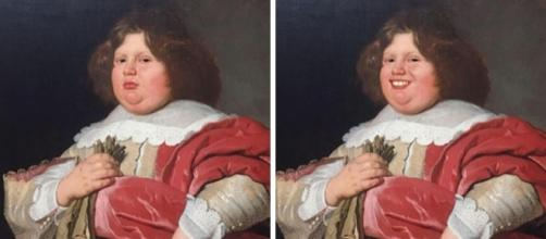 Olly Gibbs usou o FaceApp para colocar sorrisos em obras de famoso museu holandês (Foto: Reprodução/Bored Panda)