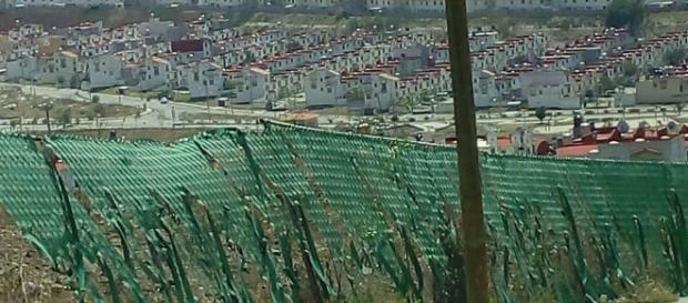 Construcciones en laderas de fuerte pendiente en el Estado de México. Fotografía: Alejandro Adonis Herrera