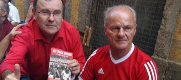 O autor, Silvio Silvio Kohler. e o biografado, Alex (Foto: Reprodução)