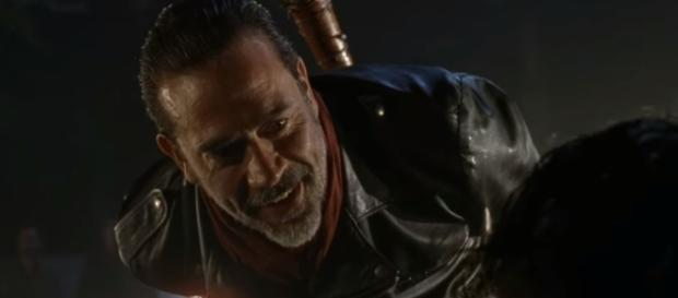 'The Walking Dead' villain Negan is psychoanalyzed. Image via joeyreid8/Photo Screencap via AMC/YouTube.com