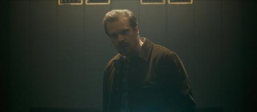 "David Harbour plays Chief Jim Hopper in last year's breakout series on Netflix, ""Stranger Things."" (via Netflix)"